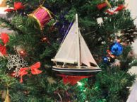 Wooden Endeavour Model Sailboat Christmas Ornament 9
