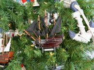 Wooden Black Barts Royal Fortune Christmas Tree Ornament