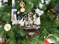 Wooden Star of India Model Ship Christmas Tree Ornament