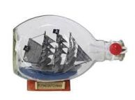 Flying Dutchman Pirate Ship in a Glass Bottle 7